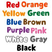 いろいろな色を表す英語のイラスト文字